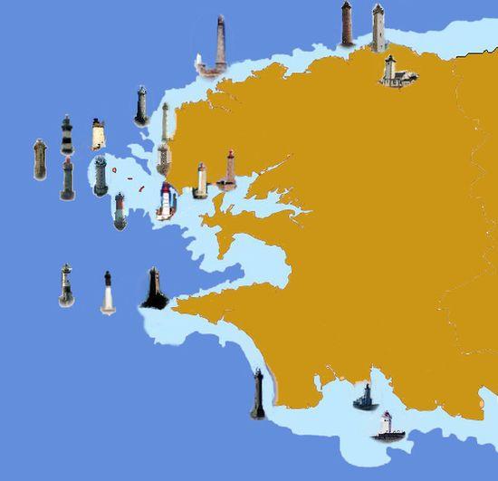Les phares du pays des Abers et du Finistère